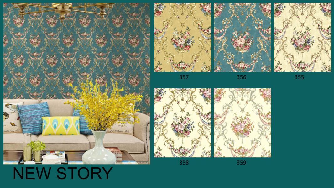 wallpaper dinding bunga klasik