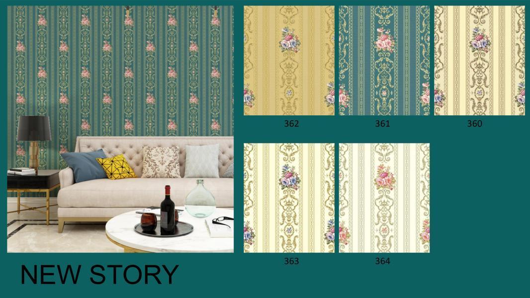 wallpaper dinding salur bunga klasik
