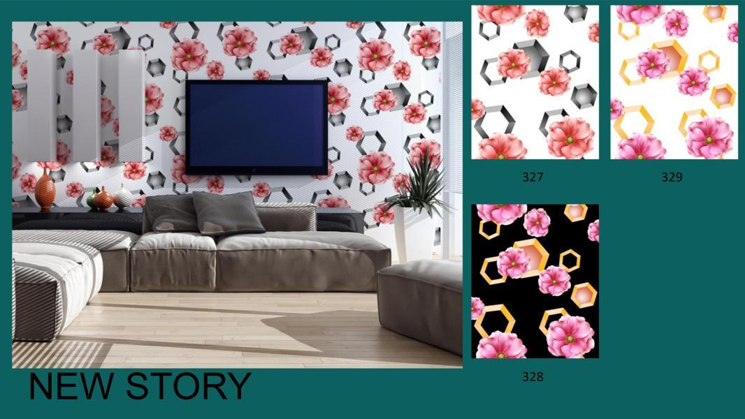 wallpaper dinding 3d bunga