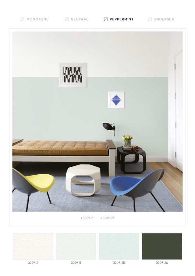 jual wallpaper dinding kantor warna pappermint terbaru